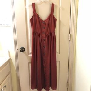 Dresses & Skirts - Rust-colored Button Down Dress